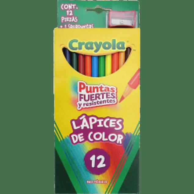 Colores puntas fuertes y resistentes, paquete con 12 lapices.