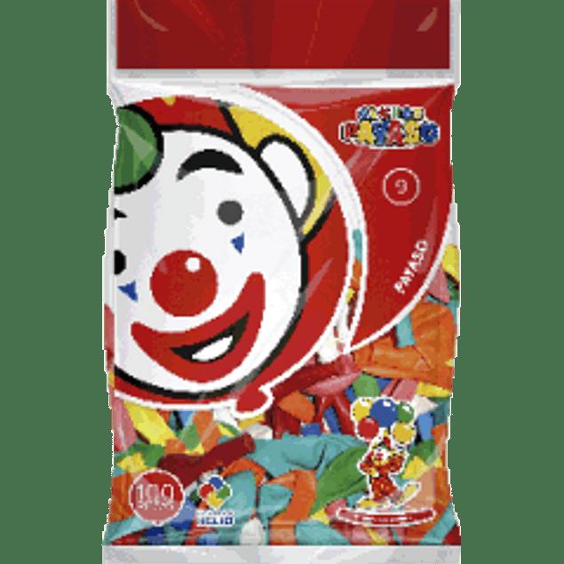 Globo del No. 9 colores surtidos, bolsa con 100 piezas
