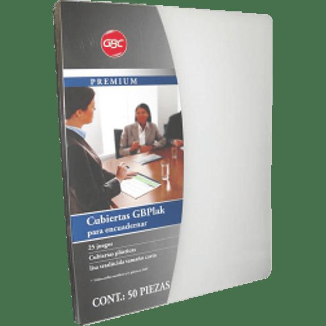 Cubierta Transparente tamaño carta, paquete con 25 pares.