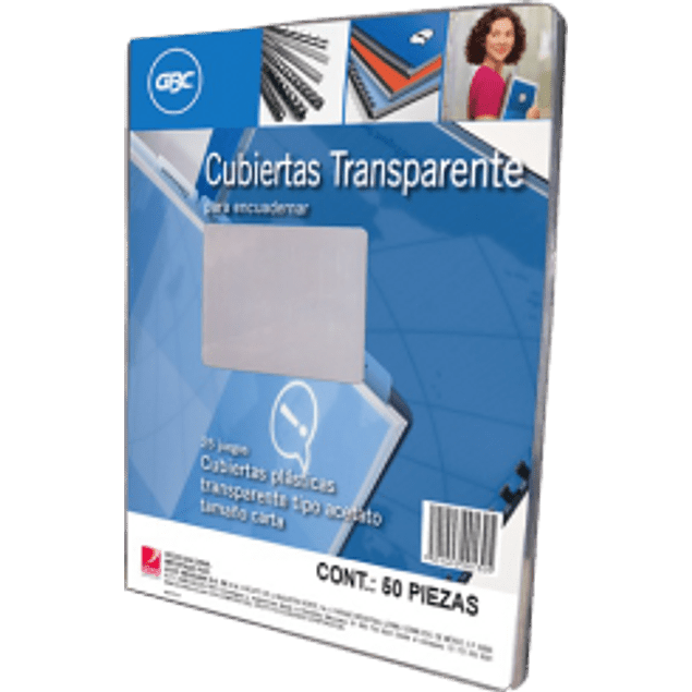 Cubierta de plástico transparente tamaño carta, paquete con 25 pares