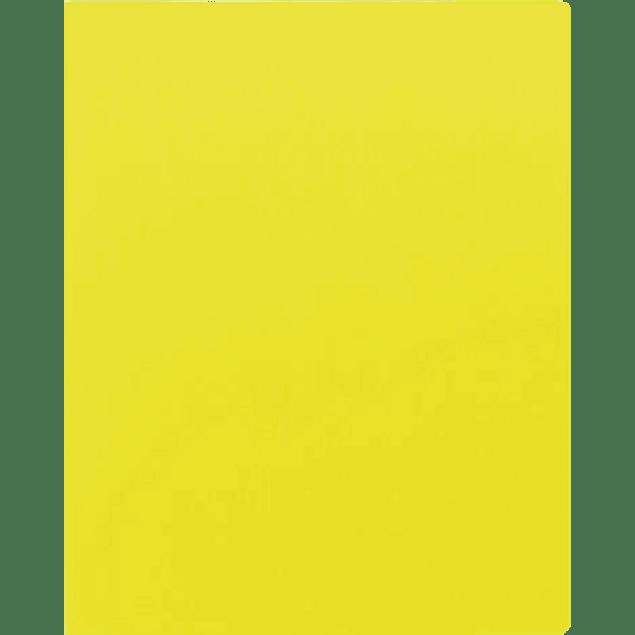 Pasta para engargolar color amarillo, tamaño carta, paquete con 25 juegos.