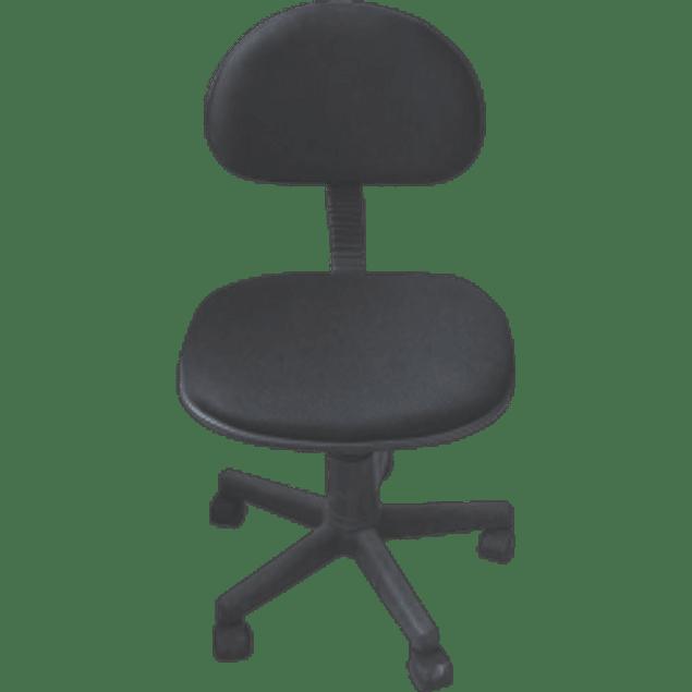 Silla tipo secretarial con ruedas, sin descansa brazos, con ruedas, altura ajustable, giratoria