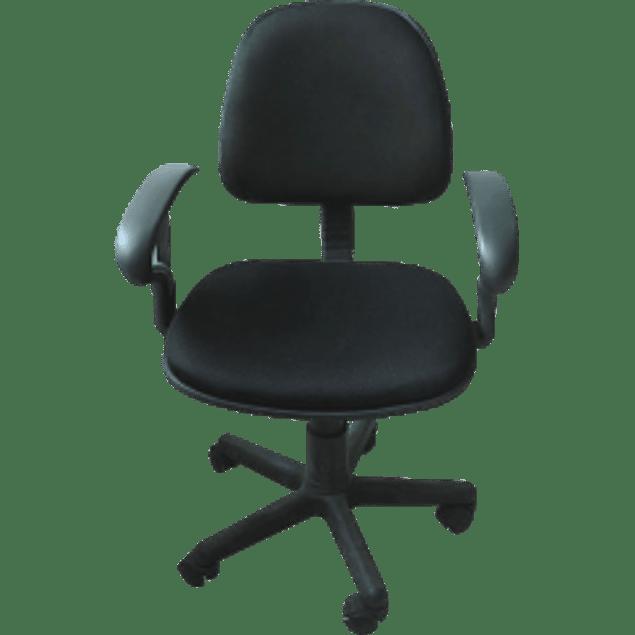 Silla tipo secretarial con descansabrazos, con ruedas, altura ajustable, giratoria,