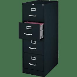 Archivero metálico con 4 gavetas color negro
