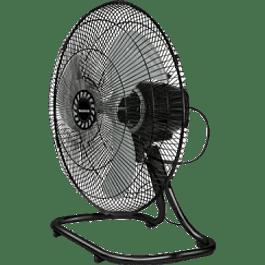 Ventilador metálico pedestal, piso y pared, de 18