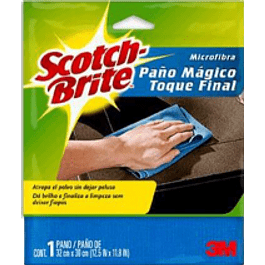 Paño de microfibra toque mágico, medidas 32 x 30 cm