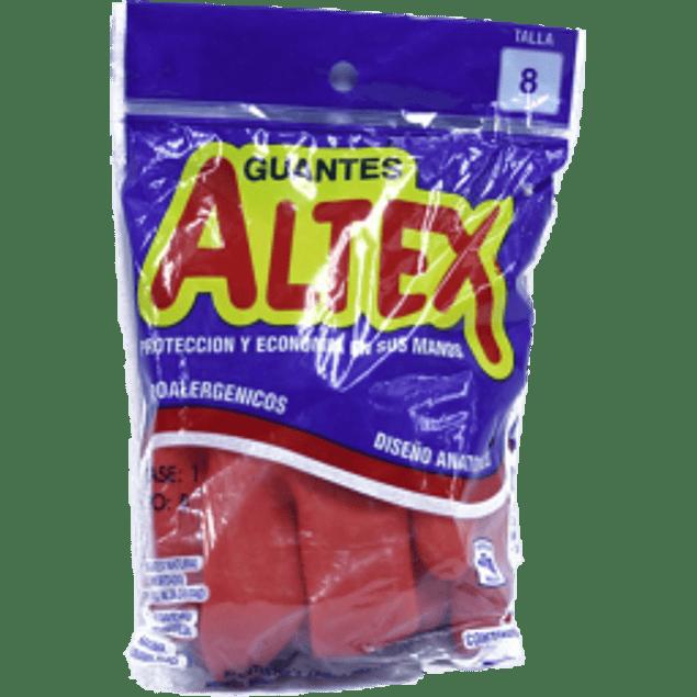 Guantes de Latex, color rojo, del No.8.