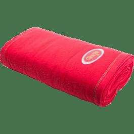 Franela color roja en rollo de 25 m x 50 cm