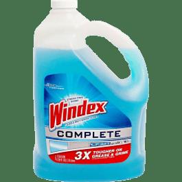 Limpia Vidrios color azul, contenido de 3,785 ml.