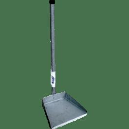 Recogedor de lámina mango largo