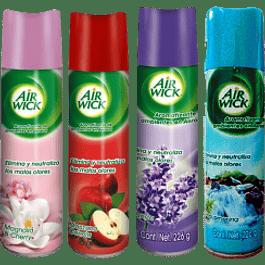 Aromatizante en aerosol, varios aromas de 226 gramos