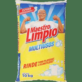 Detergente multiusos en polvo, contenido 10 kilos.