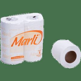 Papel Higiénico tradicional, caja con 96 rollos.