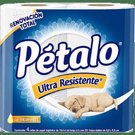 Papel higiénico tradicional, paquete con 4 rollos