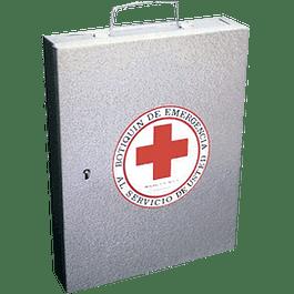 Botiquín de emergencia metálico, tamaño mediano.