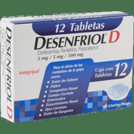 Antigripal caja con 12 tabletas.