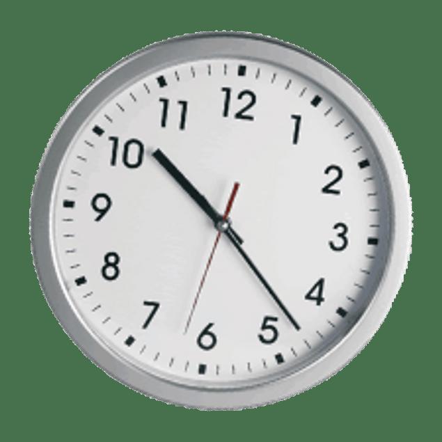 Reloj para pared color plata, tamaño 12