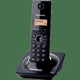 Teléfono inalámbrico con identificador de llamadas, modelo KX-TG1711MEB, color negro.