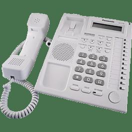 Teléfono modelo KX-T7730X-B colores blanco.