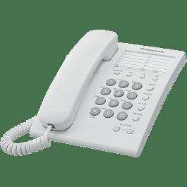 Teléfono alámbrico modelo KS-TS550MEW con flash y 13 memorias.