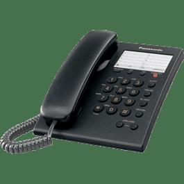 Teléfono Alámbrico KX-TS550MEB, color negro, con flash y 13 memorias.