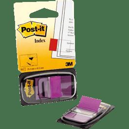 Banderitas color violeta modelo 680, paquete con despachador de 50 piezas.