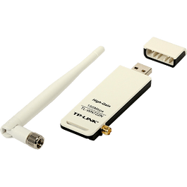 Adaptador USB TL-WN722N, Inalámbrico, 150 Mbit/s, color blanco