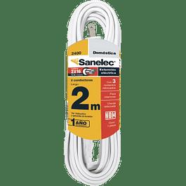 Extensión de uso domestico color blanca de 2 metros de largo
