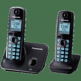 Teléfono inalámbrico modelo KX-TG4112MEB color negro, con contestadora
