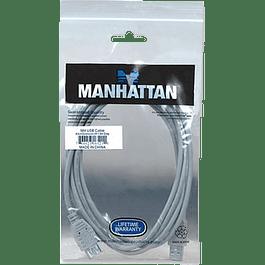 Cable USB extensión de 1.8 metros, color gris.
