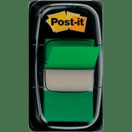 Banderitas separadoras color verde modelo 680, despachador con 50 piezas