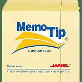 Notas adhesivas Tix Cool medida 20 x 75mm, paquete de 6 block de 50 Hojas.