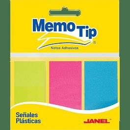 Banderitas o indicadores en colores neon, paquete con 75 señales.