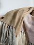 Piecera king de alpaca gris, crudo, rosado y mostaza