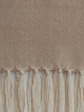 Piecera Queen Alpaca crudo y beige
