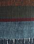 Piecera king de oveja azul y rayas de colores