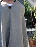 Ruana de alpaca gris y beige