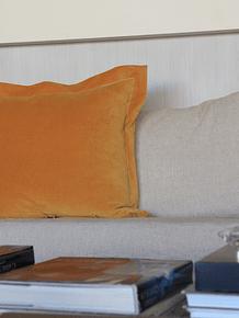 Cojín terciopelo amarillo
