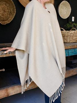 Poncho alpaca beige