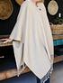 Poncho alpaca beige ! Clásico ,Moda y estilo para este invierno !
