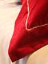 Cojín pestaña terciopelo rojo