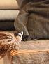 Cojín 60x40 negro con vicuña