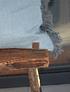 Cojín 60x60 lino desflecado gris y celeste