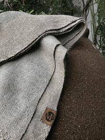 Piecera Superking alpaca rosillo y gris