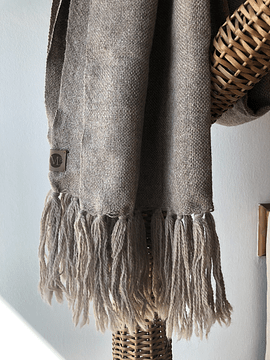 Chal de Vestir Alpaca rocillo y gris