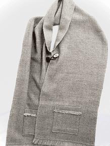 Bufandón rosillo y gris