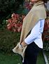 Bufandón de alpaca rosillo y mostaza