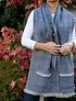 Bufandón rosillo y azul