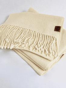 Bufanda de alpaca crudo