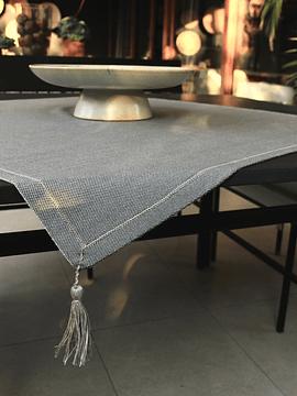 Carpeta de juegos de paño de lana piedra